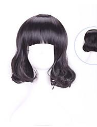 30 Cm Harajuku Cosplay Women Young Short Curly Wavy Ladies Sexy Black Wigs Halloween Costume Peruca