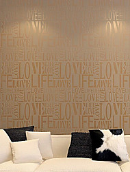 Contemporary Fashion Letter Wallpaper Art Deco 0.53m*10m Wall Covering Non-woven Paper Wall Art