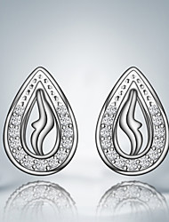 Hot Selling Products Gril Friend Gift Silver Plated Unique Design Stud Earrings Classical Design