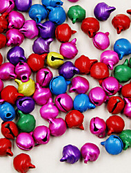 Beadia 450pcs Mixed Colors Jingle Bells 6mm Charm Beads For Christmas DIY Accessories
