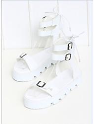 Women's Shoes Flat Heel Heels Sandals Office & Career Black/White
