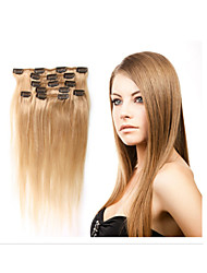 """1pc/lot 100g/pc Brazilian Human Hair Clip In Hair Extension18""""-30""""Hair Extensions All Colors In Stock"""