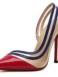 Stiletto - 10-12cm - Damenschuhe - Pumps/Heels ( PU , Gold/Rot )