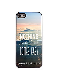 Personalized Gift Nothing Comes Easy Design Aluminum Hard Case for iPhone 5/5S
