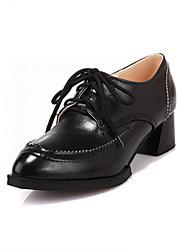 Zapatos de mujer - Tacón Cuña - Cuñas / Tacones - Tacones - Oficina y Trabajo / Vestido / Casual - Sintético - Negro / Rojo / Blanco