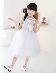 Flower Girl Dress Hemline Train Fabric Silhouette Sleeve Length Dress