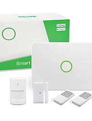 Wireless GSM Alarm System Kit(1*Control Panel&1*PIR Detector&1*Door Sensor&2*Remoter Control&1*Adapter&1*User Manual)