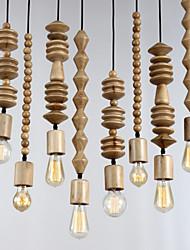 4 Head Oak Vintage Pendant Lamp 120cm cord the geometric beads string droplight hanging Light