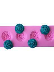 bakeware silicone rosa fondant molde do bolo decoração do molde