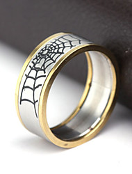 Men's Party/Casual Fashion Spider web Titanium Steel Rings