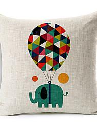 Цветной шар мультфильм слон рисунком хлопок / лен декоративная подушка крышка