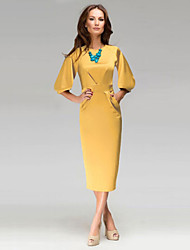 Women's Vintage Sexy Beach Casual Party Lantern Sleeve Slim Dress
