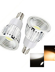 6W E14 Spot LED 1 COB 50-150 lm Blanc Chaud Blanc Froid AC 100-240 V 2 pièces