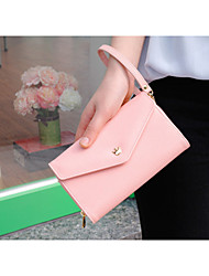 Women PU Leather Clutch Wallets Length Design Lady Loved Lady Purse Bags with Card Holder Phone Pocket for Samsung