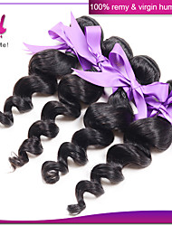 Mix Size Indian Loose Wave Hair 3Pcs Lot Natural Black Color 8-30 Inches Unprocessed Human Hair Extensions
