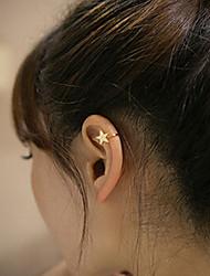 Punhos da orelha Amor Estilo simples Moda Cobre Formato de Coração Estrela Trevo-de-quatro-folhas Lua # 8 # 9 # 10 11 12 Jóias Para
