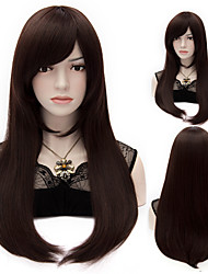 Brown Harajuku Cosplay Wigs Heat Resistant Straight Hair Synthetic Wig