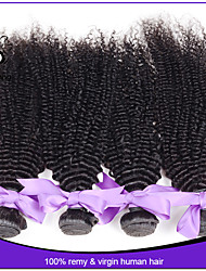 Unprocessed 4Pcs/Lot 12-22inch #1b Indian Virgin Hair Kinky Curly 100% Indian Remy Hair curly weave human hair