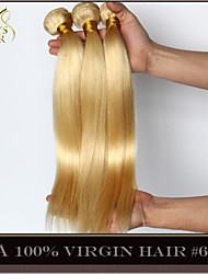 "3Pcs Lot 14-30"" Platinum Bleach Blonde Brazilian Virgin Hair Straight Color 613 Remy Human Hair Extensions Weave Bundles"