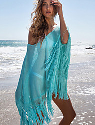 Women's Round Neck Beach Knit Cloak Blouse Cover Up