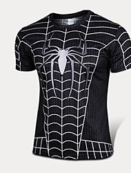 Tops/T-shirt/Trainingsanzug/Base Layer/Jersey/Kompressionsanzug ( Wie Bild ) - Kurze Ärmel ) - für Wasserdicht/Atmungsaktiv/Hohe