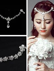 Women's Crystal Rhinestone Wedding Tassel Forehead Headpieces for Wedding