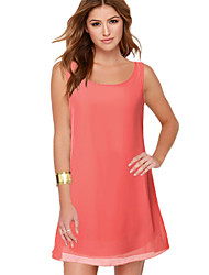 Women's Sexy Beach Casual Round Neck Chiffon Dress