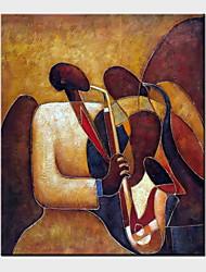 peintures à l'huile un panneau moderne toile gens abstraits peints à la main prêt à accrocher