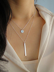 Women's Fashion Metal Chain Long Strip Pendant Necklace