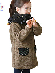 Waboats Winter Girls Fleece Pocket Velvet Hood Top Dress