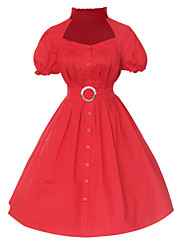 Maggie Tang Women's Halter 50s Vintage Pinup Housewife Rockabilly Swing Dress 517
