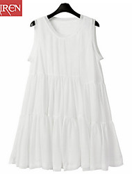 Muairen®Women'S Sleeveless Chiffon Babydoll Dress Beach