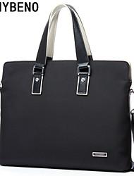 benybeno simples moda bussiness sacola pasta oxford pano preto dos homens
