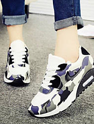 Sneakers a la Moda ( Negro/Rosa Comfort/Punta Redonda/Punta Cerrada - Tacón Cuña - Poliéster - para MUJERES