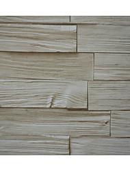 nouvelle rainbow ™ bois de bande de papier peint rétro mur motif décoratif couvrant pvc / mur de vinyle art