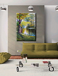 Oil Paintings One Panel Modern Landscape Hand-painted Canvas Ready to Hang