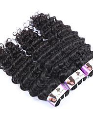 "3Pcs/Lot+10""-30""+Peruvian (Italian)Virgin Remy Hair+ color(natural black)+ Deep wave"