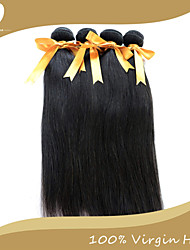 "4Pcs/Lot Indian Virgin Hair 100% Indian Remy Hair Straight 8""-30""Human Hair Extensions Natural Color"
