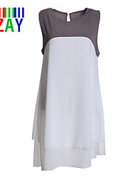 ZAY Women's Casual/Work  Sleeveless Asymmetrical Dress