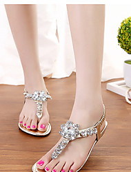 Women's Shoes Faux Leather Wedge Heel Wedges Sandals Outdoor Silver/Gold