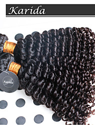 3 pcs/Lot Brazilian Curly Wavy Hair, Can be Dyed Cheap 100% Virgin Brazilian Hair