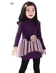 Children Kids Girls Cotton Long Sleeve 3-7 Years Velvet Princess Dress Clothes