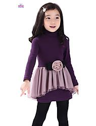 Vestido Chica de - Invierno - Mezcla de Algodón - Manga Larga