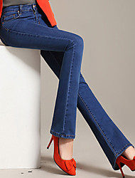Summer new denim pants thin waist Slim hip flared trousers Weila trousers female Korean tide wholesale