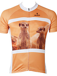 PaladinSport Men's Short Sleeve Cycling Jersey New Style Meerkats Bike Wear Bicycle Apparel 100% Polyester