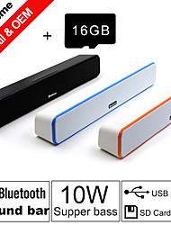 besteye® carta di tf 16gb e g-807 10w hifi altoparlanti bar suono fm aux telecomando Bluetooth stereo parla fili