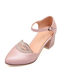Women's Shoes  Chunky Heel  Pointed Toe Pumps Dress With Sparkling Glitter More Colors Available