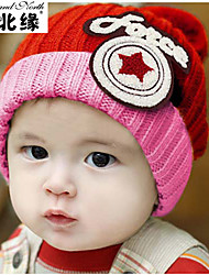 Warm winter star Mao Xianmao children's hat knitted hat flanging labeling M6509