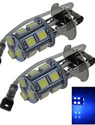 2X 13 5050 SMD LED H3 Bulb Blue Fog Light Parking Low High Beam Lamp DC 12V H053
