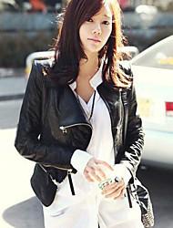Women's Motorcycle Clothing PU Leather Jacket